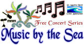 Uptown Saturday Night, Music By the Sea and Music in the Plaza, Geocaching, Free Hot Dogs and More This Labor Day Week 1 Music by the Sea logo.61105935 std St. Francis Inn St. Augustine Bed and Breakfast