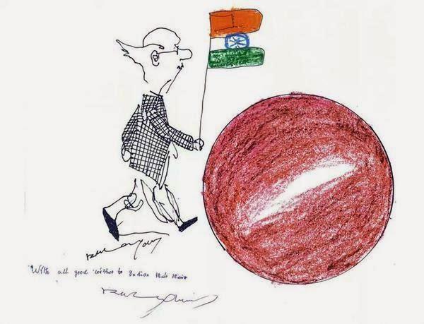 RK Laxman's last Cartoon