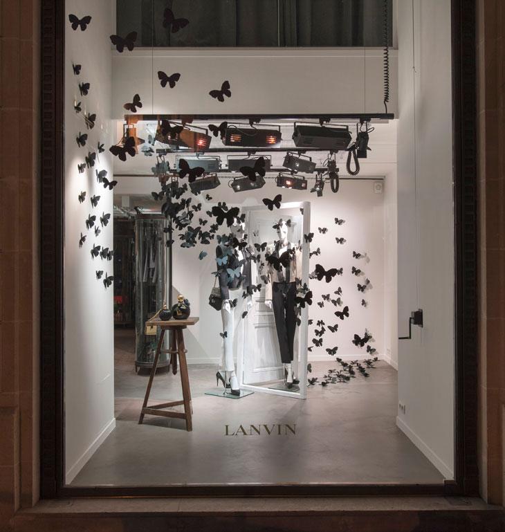 The style examiner lanvin store windows on rue du - Boutique de decoration paris ...