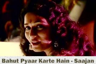 Bahut Pyaar Karte Hain Lyrics - Saajan (1991) | Anuradha Paudwal