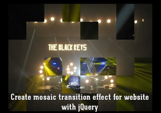 Create mosaic transition effect for website with jQuery