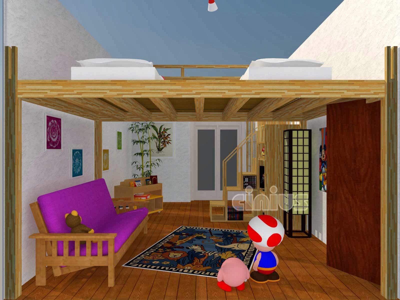 Letti A Soppalco Per Bambini : Soppalco in legno esempi letti a soppalco