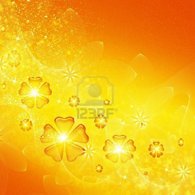 abstraction yellow design with flowers background for cover and other design artworks