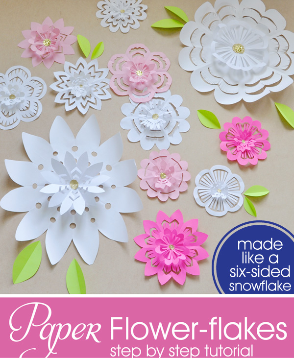 Holly brooke jones instructions for making paper flower flakes im headed to studio 5 tomorrow to show how to make these 3 d paper flower flakes they would look lovely as a surprise on your mothers front door for mightylinksfo