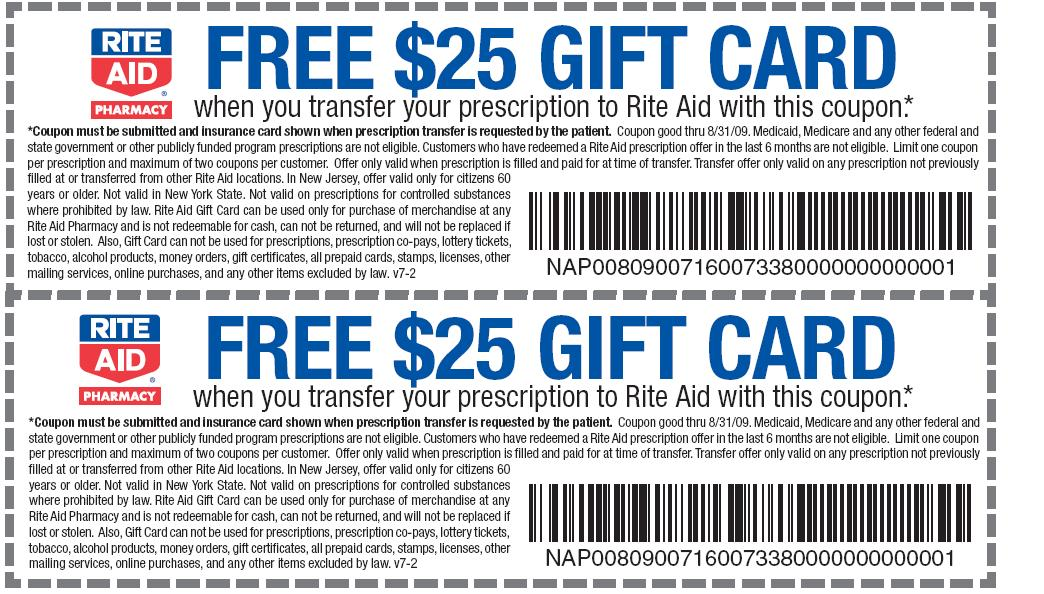 Walgreens pharmacy coupons for new prescriptions