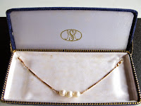 中古 K18 アコヤ真珠 羽織紐