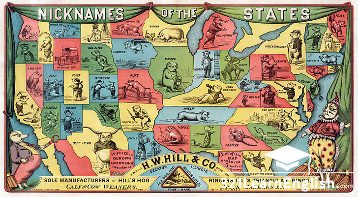 Culture: 50 USA states and their nicknames (Level: B2)