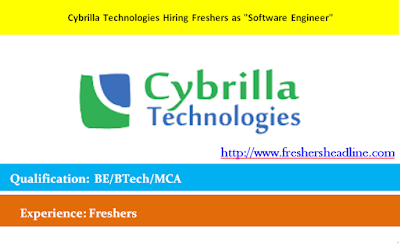"Cybrilla Technologies Hiring Freshers as ""Software Engineer"""