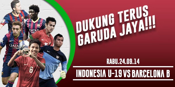 Timnas Indonesia U-19 vs Barcelona B