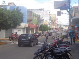 Novo semáforo no cruzamento das Ruas São Paulo e Pio X.
