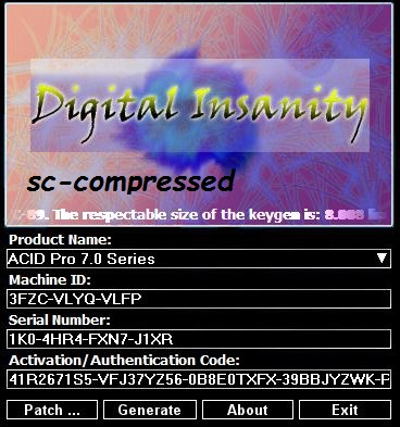 Sony Acid Pro 6 Free Download With Keygen. Madrid place seconds Drager Visit