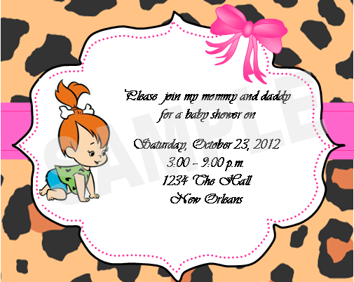 Pebbles+2 solutions event design by kelly pebbles flintstone invitations,Flintstones Birthday Invitations