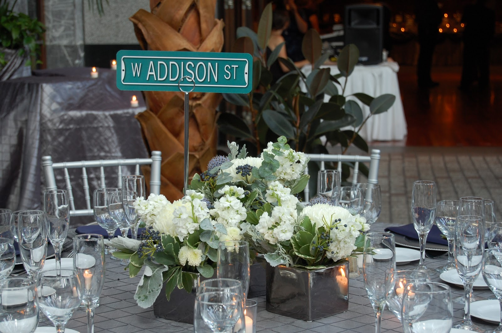 Each Table Was Named After A Street In Chicago