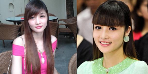 Năm 2013, Triệu Thị Hà bắt đầu chọn các loại đầm tối giản, đeo phụ kiện vừa phải hơn. Tuy nhiên, kiểu tóc mái ngố khiến người đẹp kém sang.