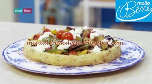Crostata verdure e burrata ricetta Parodi per Molto Bene