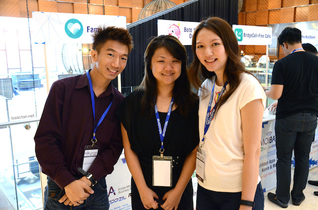 Some of the bloggers present of the first day, Marc, Wendy and Charmaine
