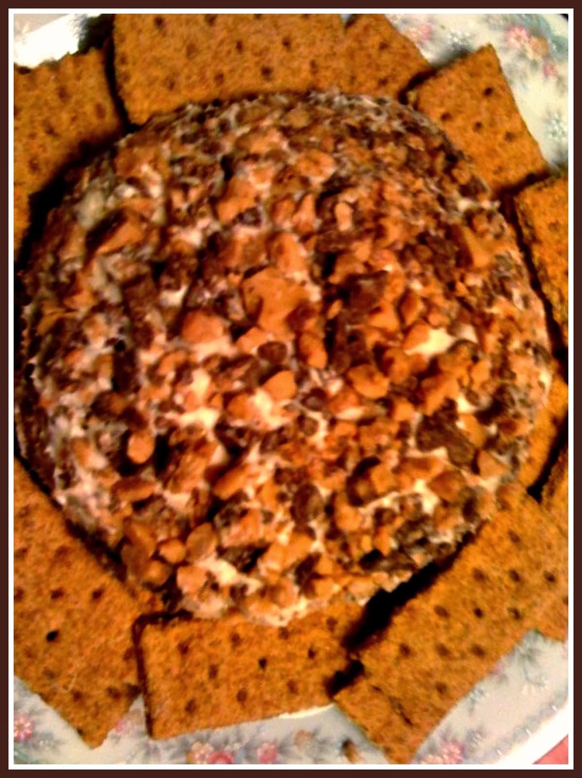 Sweet Tea and Cornbread: Chocolate Chip Toffee Cheese Ball!