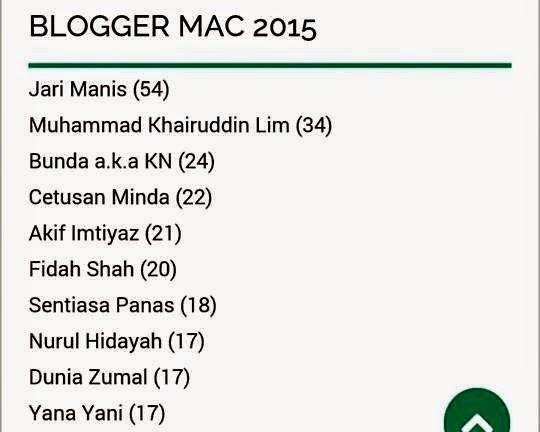 Blogger mesra Mac 2015