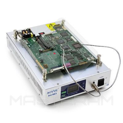 Установка платы на держателе плат кварцевого инфракрасного преднагревателя плат AOYUE Int 863