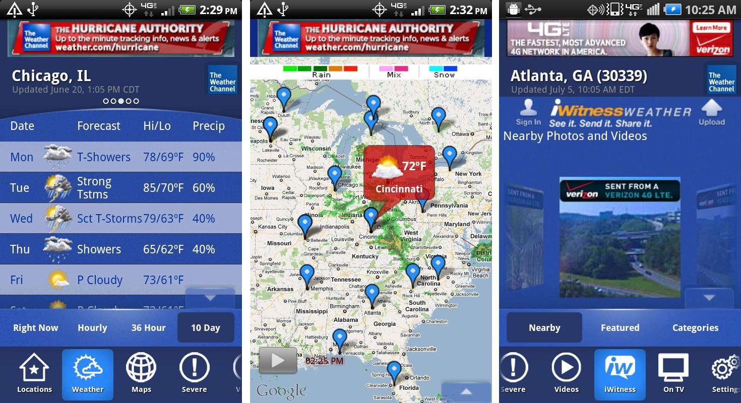 forecast weather with android apps