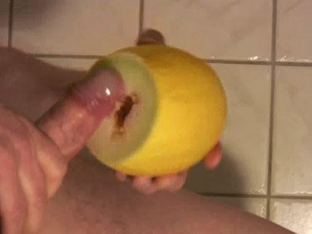 Masturbation with fruit