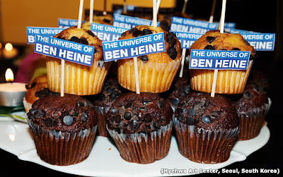 """The Universe of Ben Heine - Custom cupcakes! Ben Heine Exhibition buffet - Seoul, South Korea - 2013"