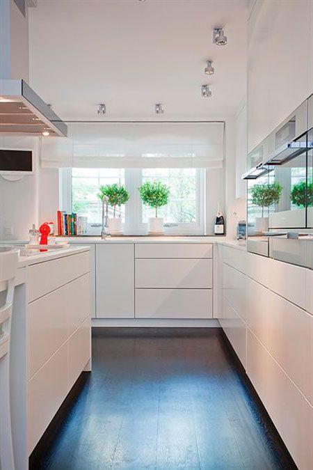 Hogar diez c mo decorar cocinas alargadas for Cocinas alargadas modernas