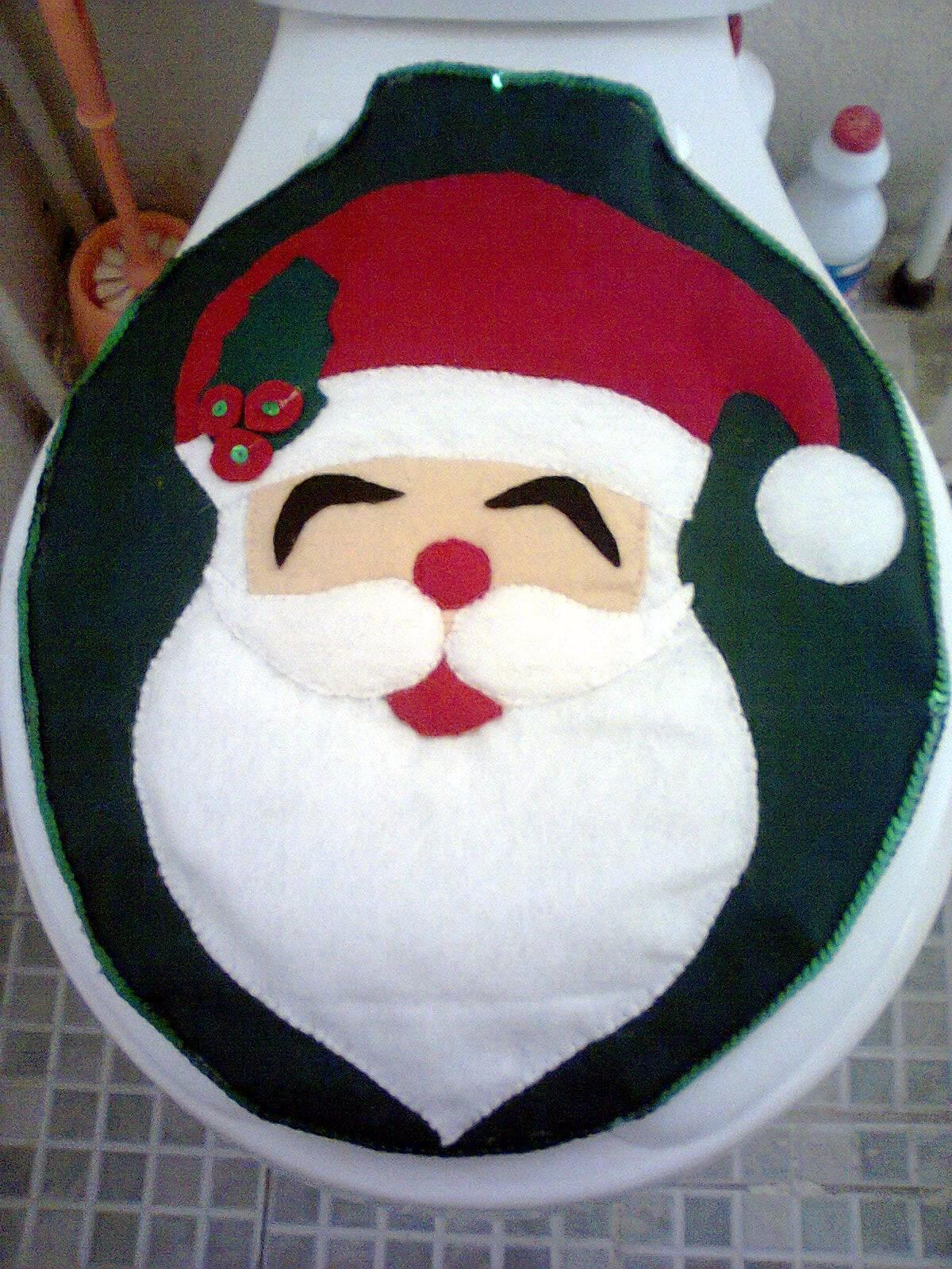 Baño Navideno Navidad:Santa Claus Juego De Bano En Fieltro