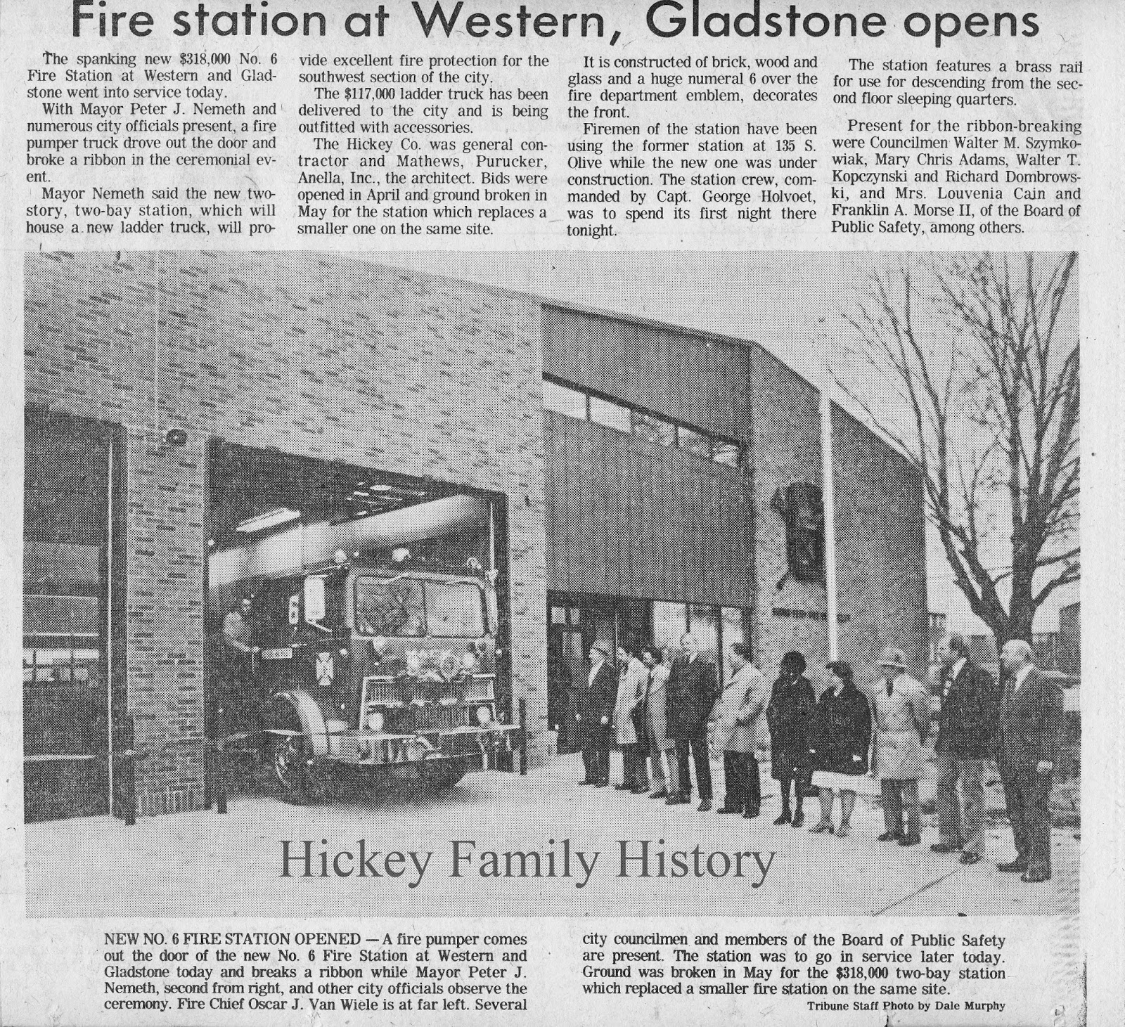 1978 the hickey company built south bend fire station no 6