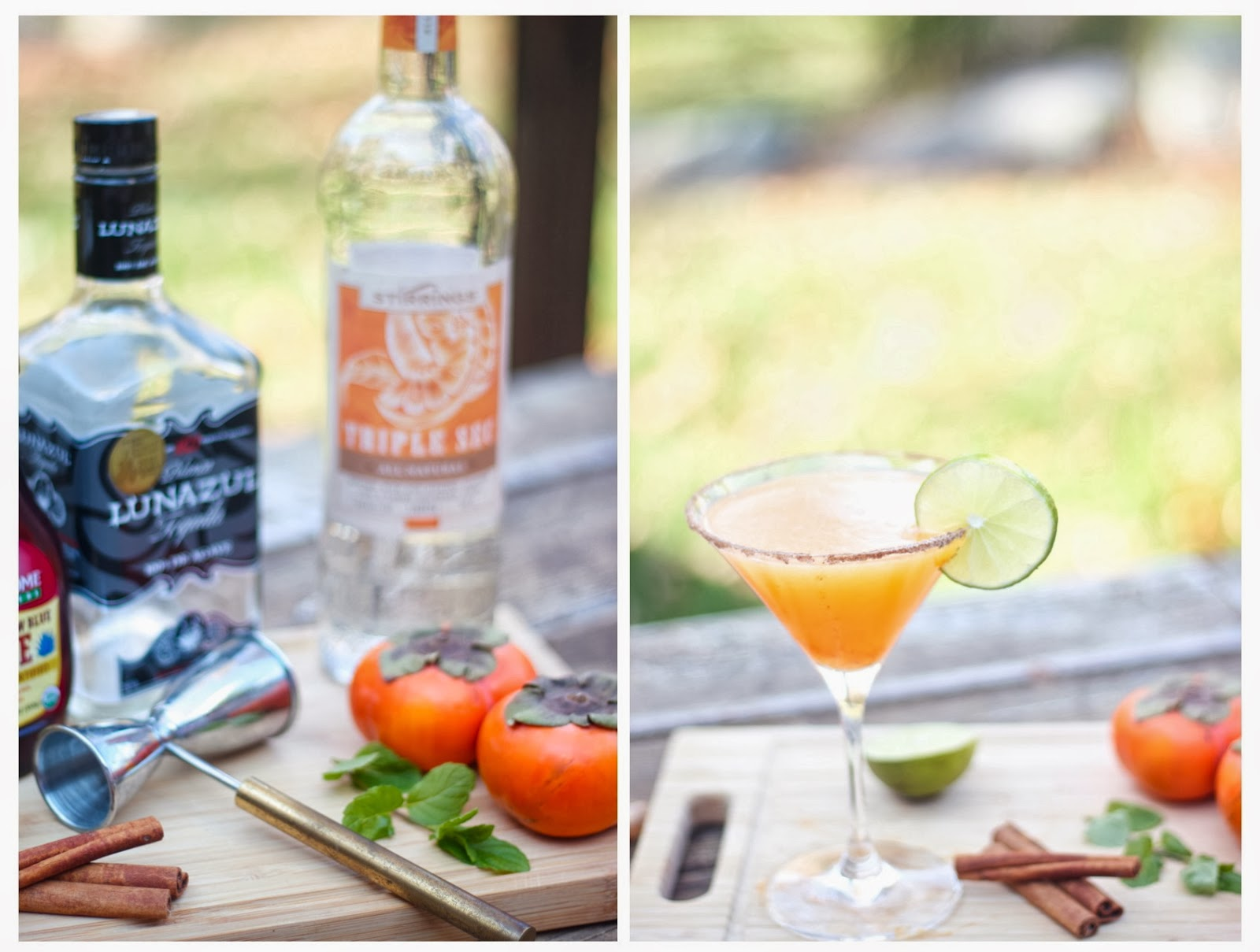 Intrinsic Beauty : Cocktail Hour: Sparkling Persimmon Margarita