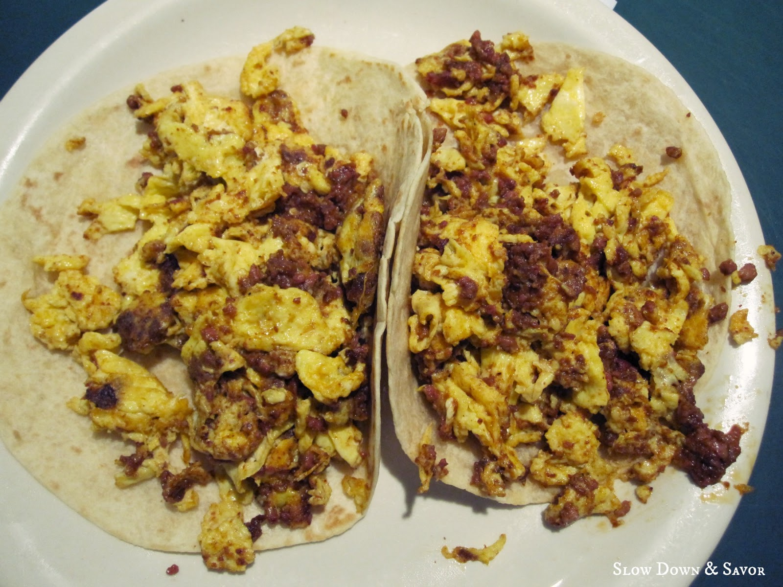 Chorizo And Eggs Chorizo and egg tacos for