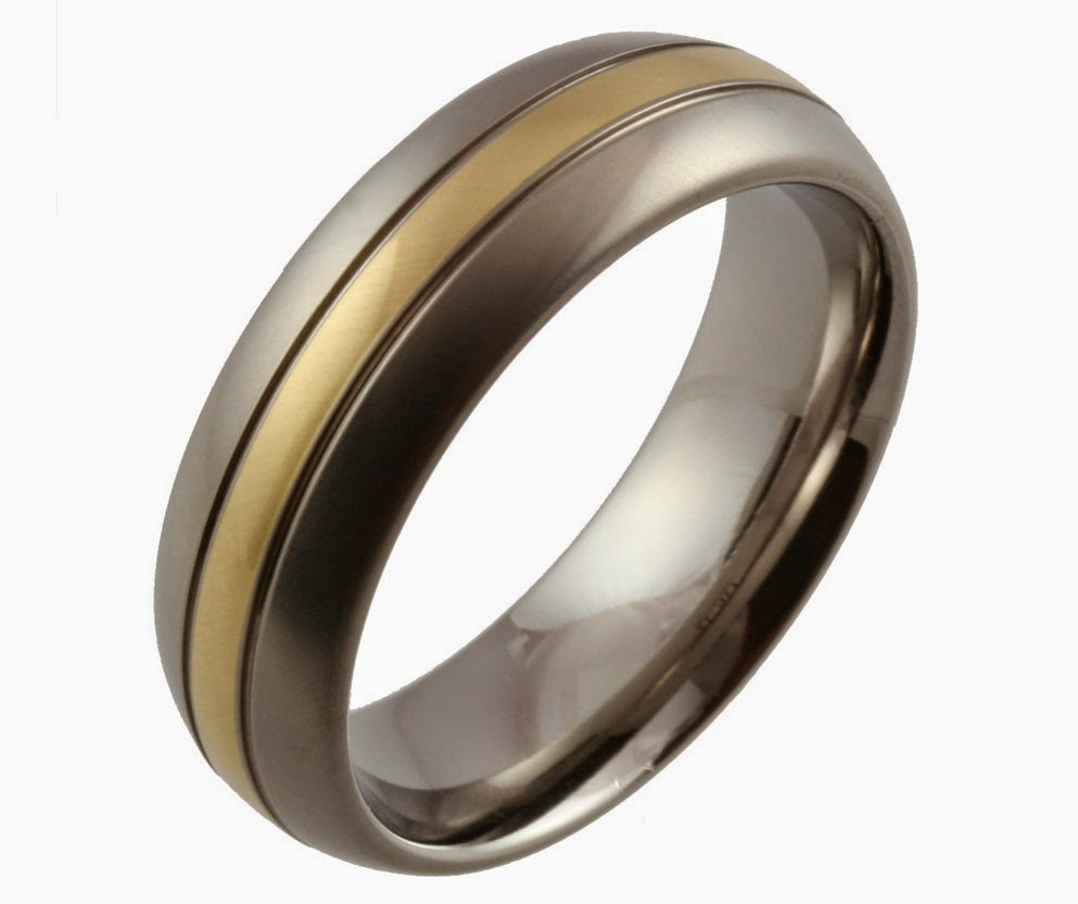 men nice gray and gold wedding rings engagement design