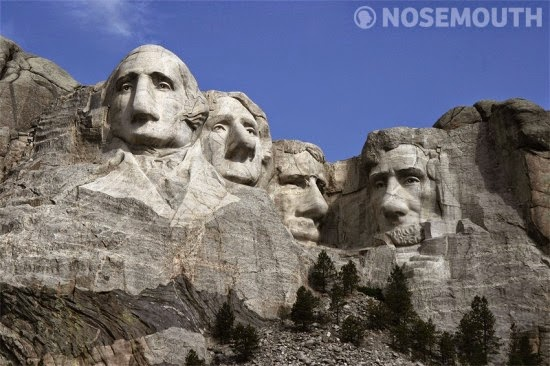 جبل راشمور الرؤساء بأنف كبير وبدون فم