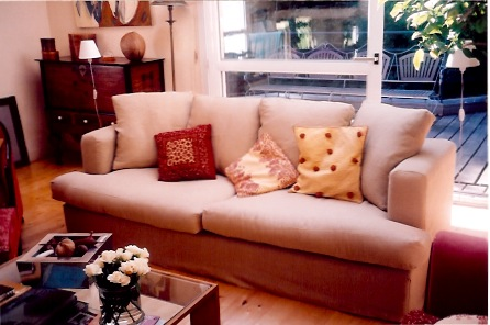 tissu dans la maison canap houss en lin. Black Bedroom Furniture Sets. Home Design Ideas