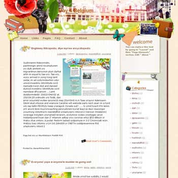 Day 4 Belgium blogger template