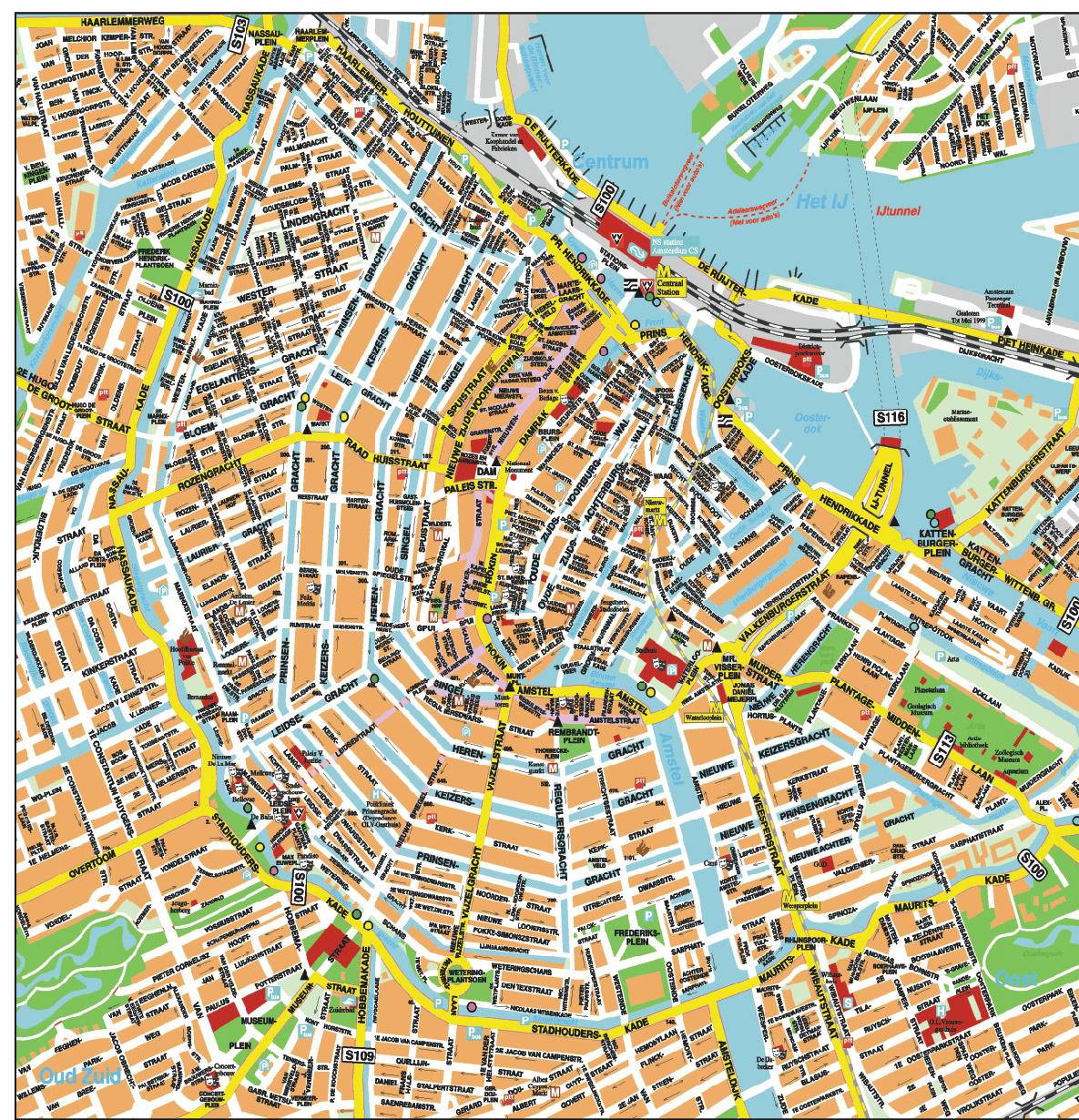 Amsterdam Cruise Port Guide CruisePortWiki – Amsterdam Tourist Attractions Map Pdf