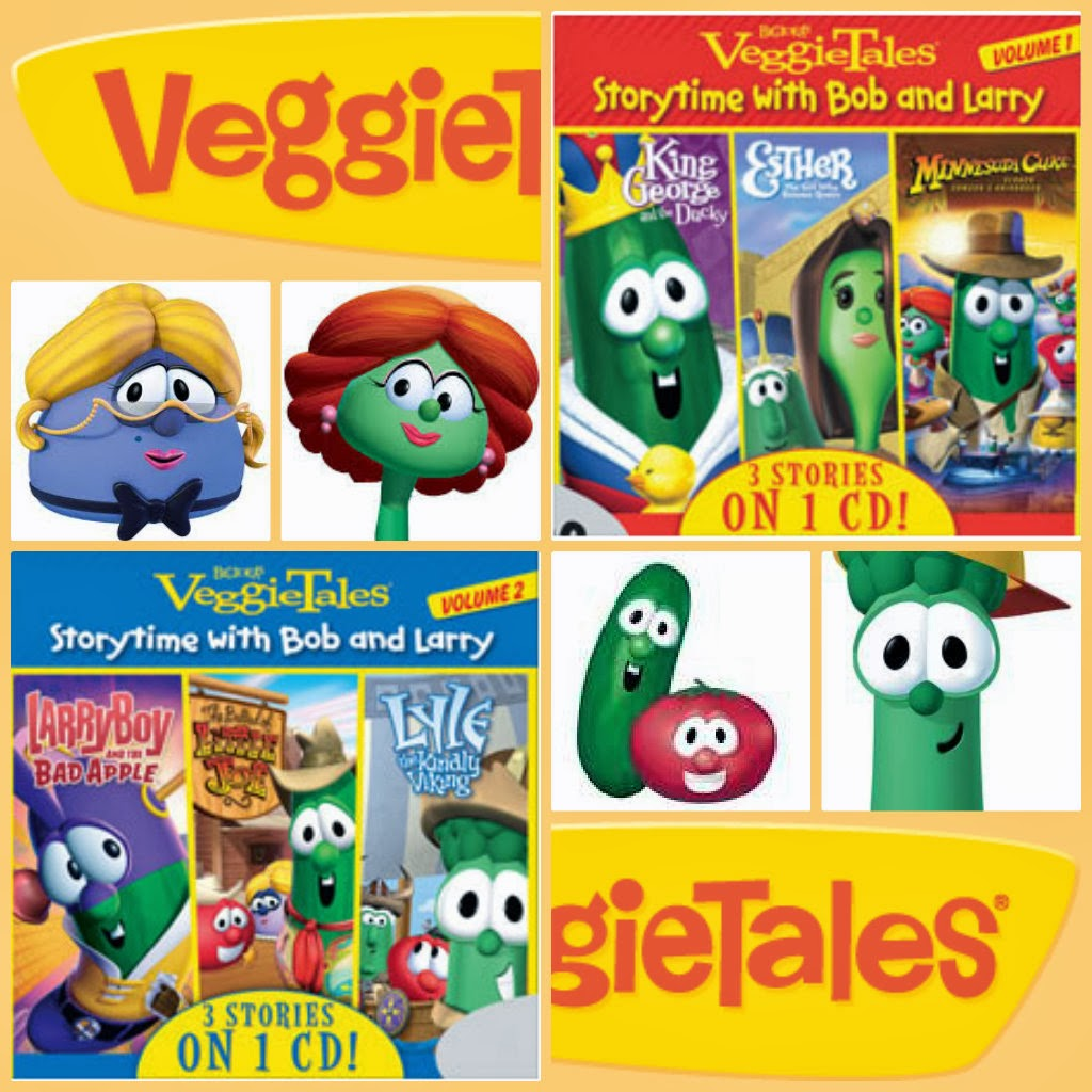 veggietales cd giveaway collage