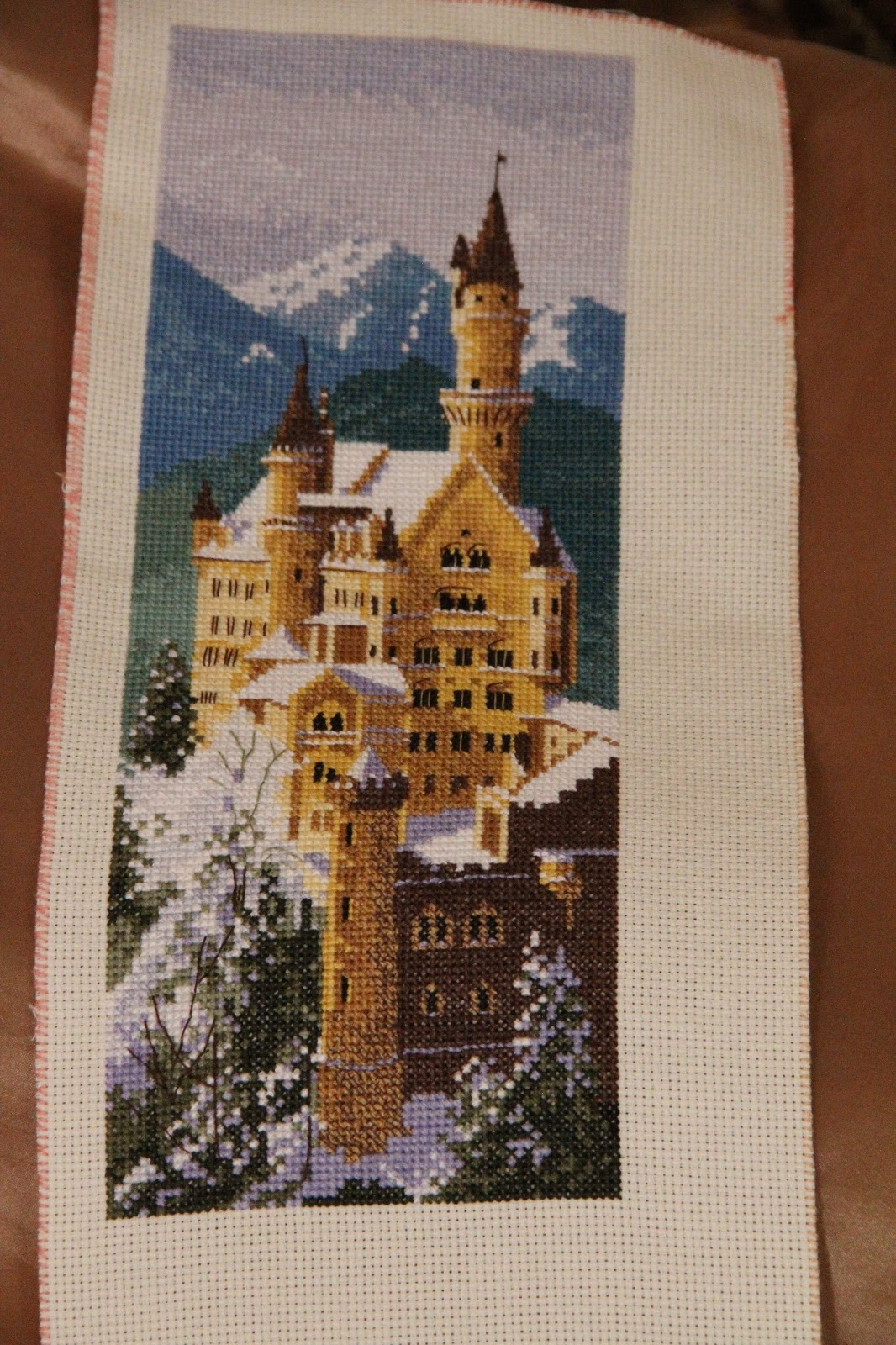 Вышивка замка Нойшванштайн - Риолис 10