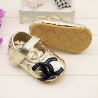 MICH WARDROBE Fabulous Chanel GOLD Prewalker Shoe for