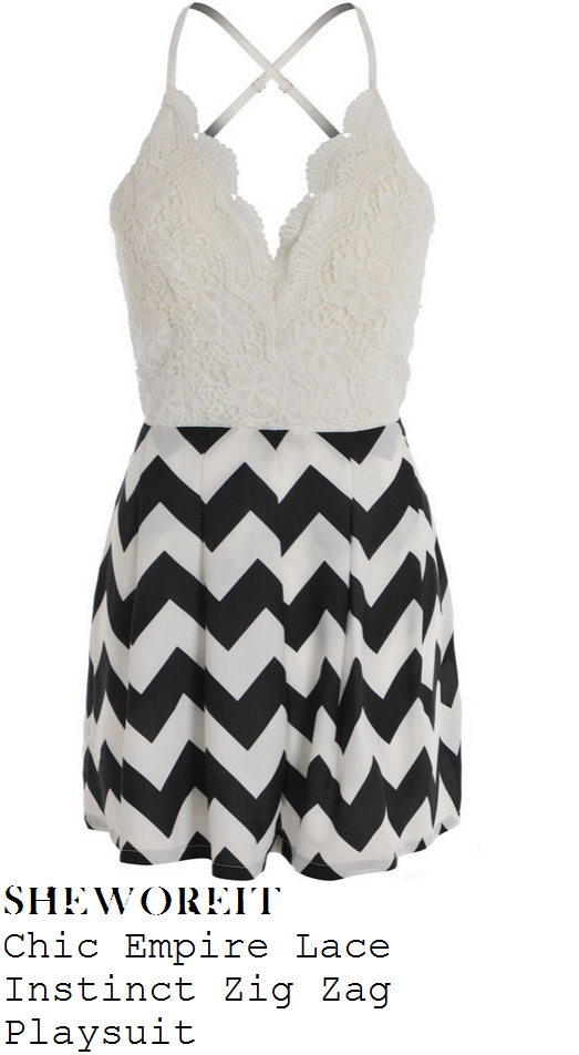 georgia-kousoulou-white-black-lace-zig-zag-playsuit-towie-marbs
