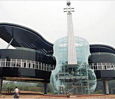 Weird Wonderful World News A Piano Shaped House