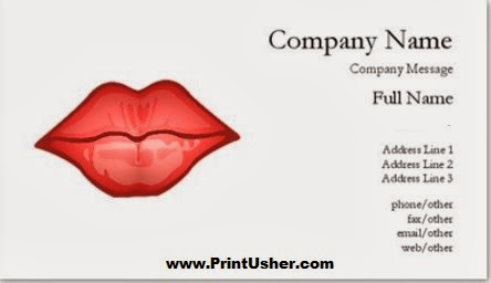 Custom Shape Business Cards Lip Shaped Business Cards
