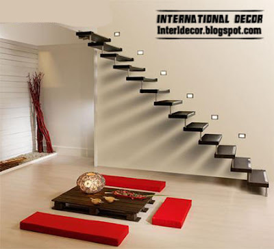 Interior Decor Idea: Interior stairs, Flying staircase, modern ...