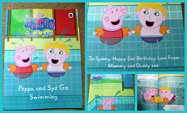 Personalised Peppa Pig book from Penwizard.