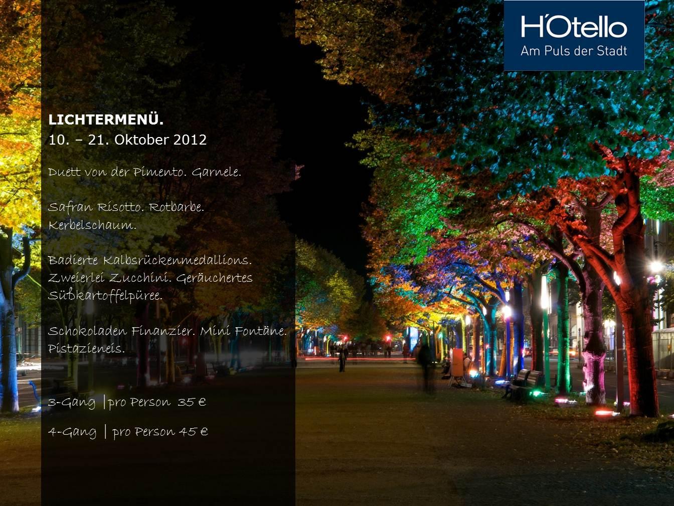 h otello k 80 pr sentiert sich beim festival of lights 2012 reisespass24. Black Bedroom Furniture Sets. Home Design Ideas