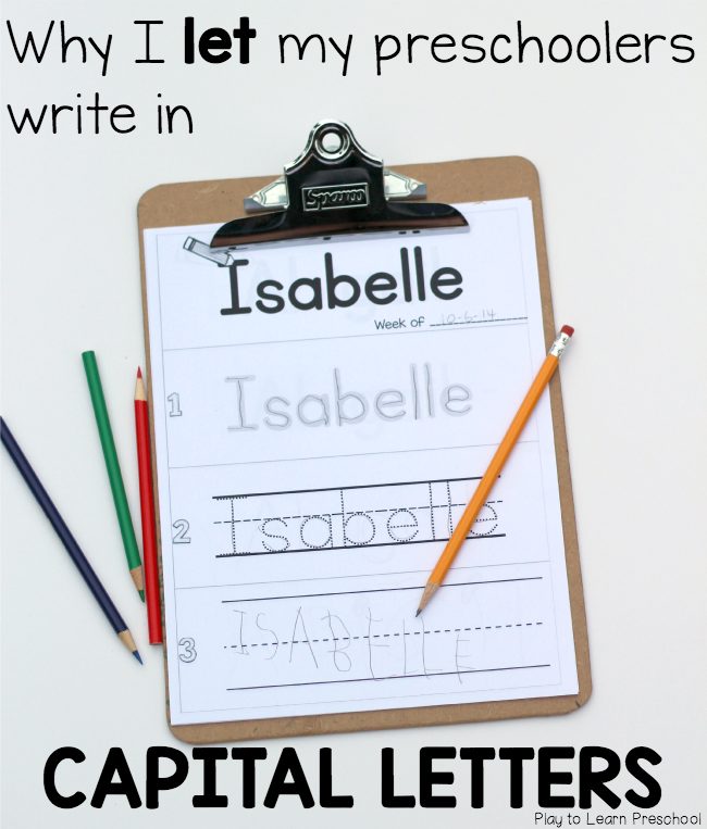 How to Practice Preschool Letter and Name Writing ...