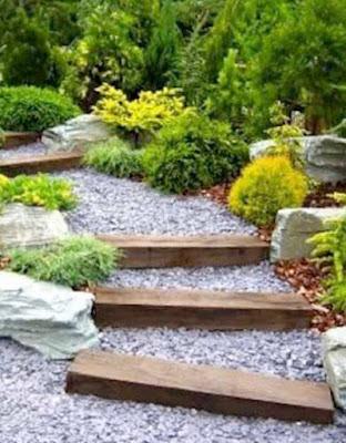 Jalan Setapak Minimalis Taman