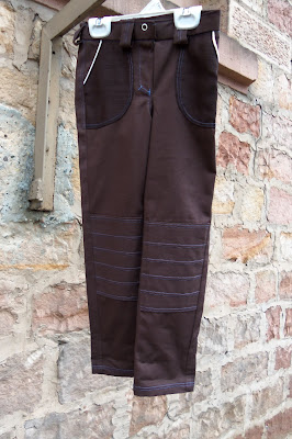 clean slate pants with built in patches, front