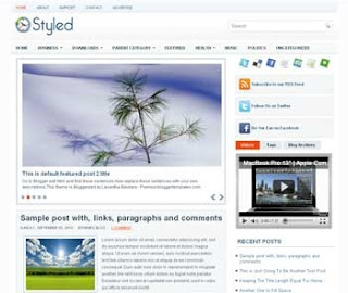 Styled Blogger Template