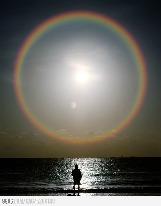 Rainbow seen from space
